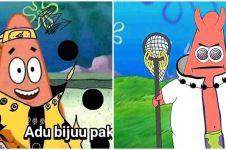 10 Editan gambar Patrick jadi karakter di anime Naruto, kocak