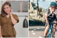 10 Pesona Gisel saat bersepeda road bike, gayanya curi perhatian