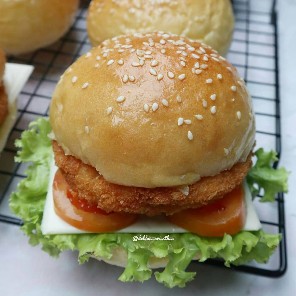 Resep burger ala rumahan Instagram