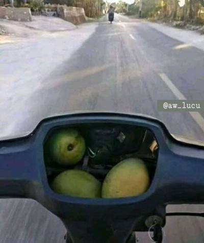 benda aneh di motor © Instagram