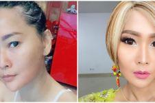 Potret 10 penyanyi dangdut usia 40-an tahun pakai dan tanpa makeup