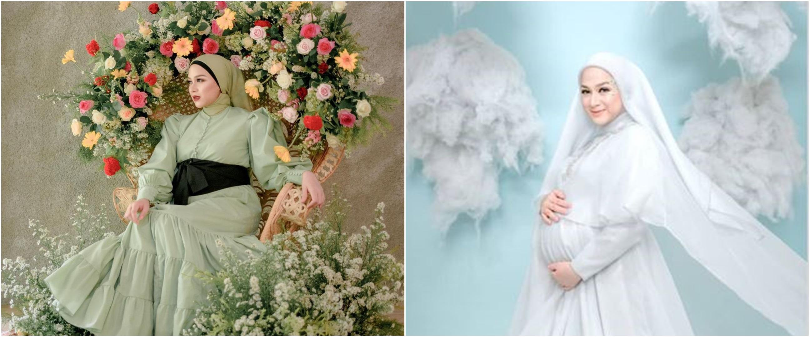 9 Gaya pemotretan Nina Zatulini di kehamilan ketiga, auranya terpancar