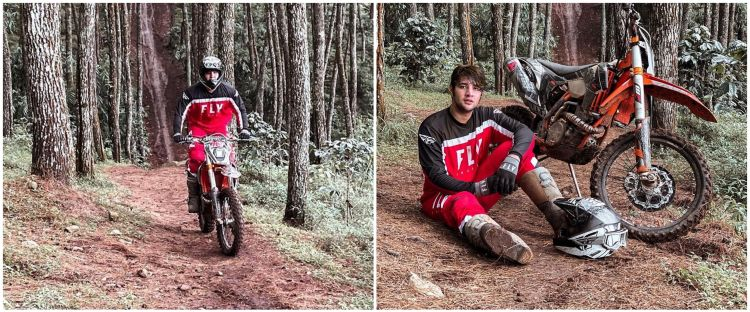 10 Aksi Ammar Zoni jajal motor trail, sempat tergelincir karena tegang