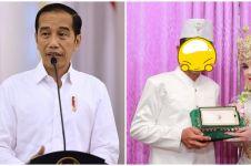 Viral pengantin pria mirip Presiden Jokowi, 5 potretnya bikin melongo
