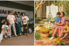 Pemotretan 10 keluarga presenter, Uya Kuya usung tema retro