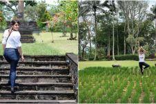 9 Potret villa Tya Ariestya nginap di Magelang, dikelilingi 8 gunung