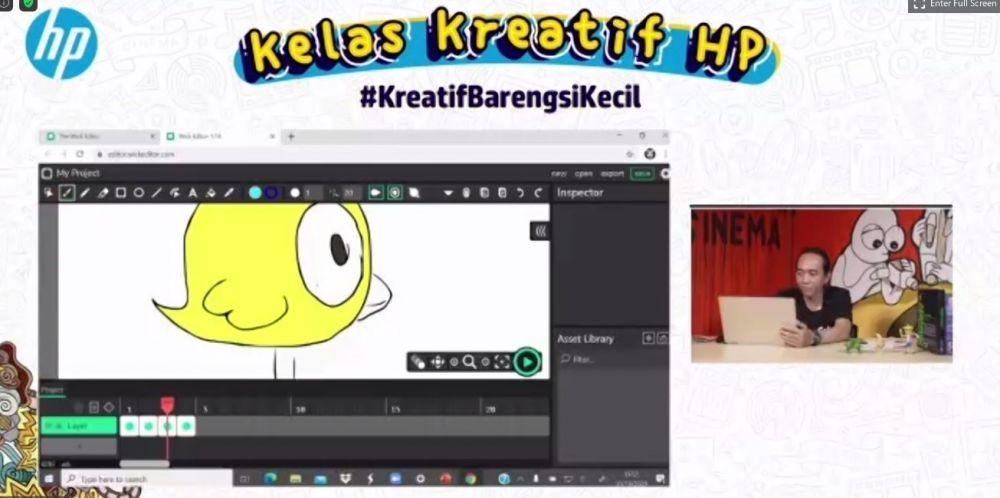 Serunya belajar animasi bareng HelloMotion Academy di Kelas Kreatif HP berbagai sumber