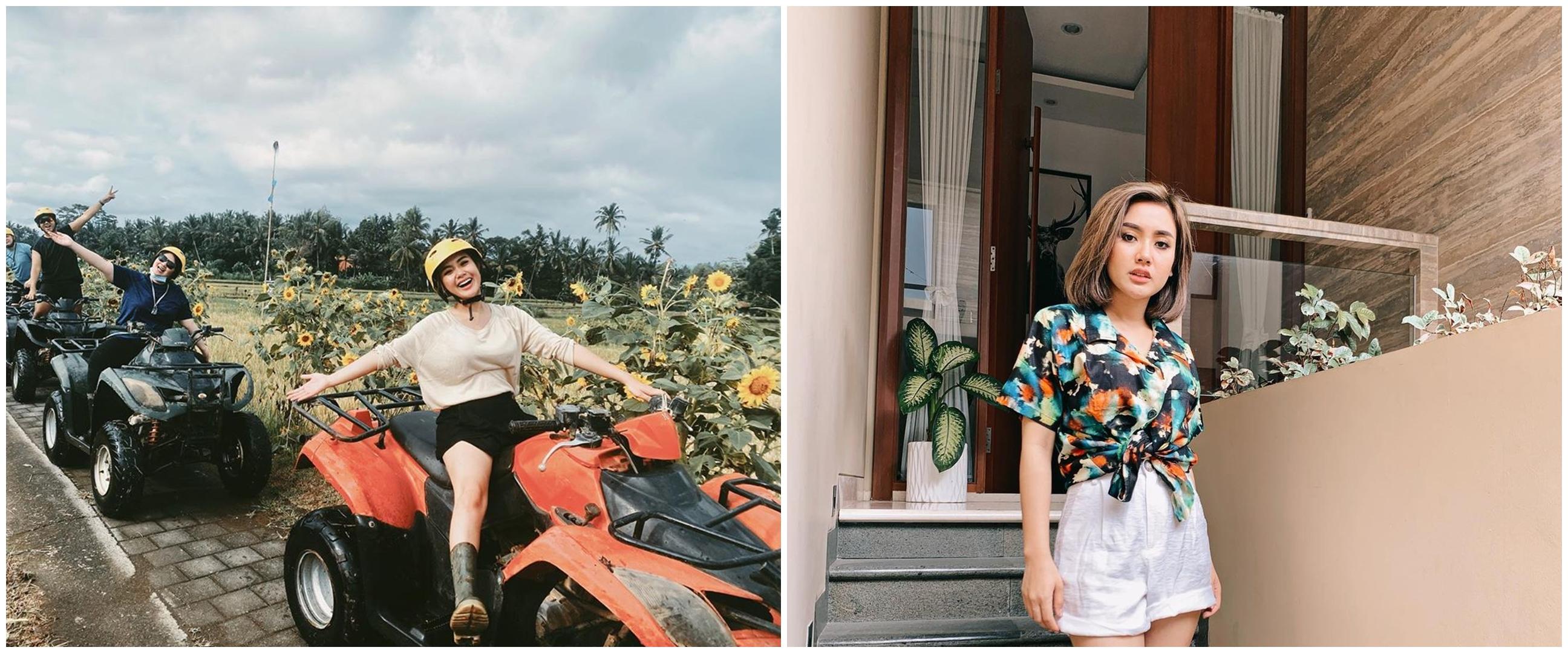 10 Momen seru Cita Citata liburan di Bali, main ATV rame-rame