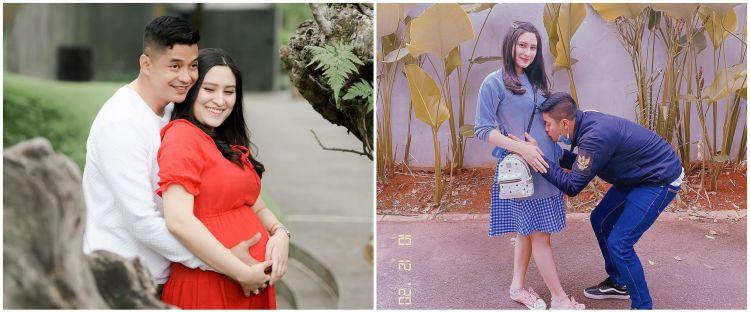 7 Potret maternity Angbeen Rishi & Adly Fairuz, simpel tapi elegan