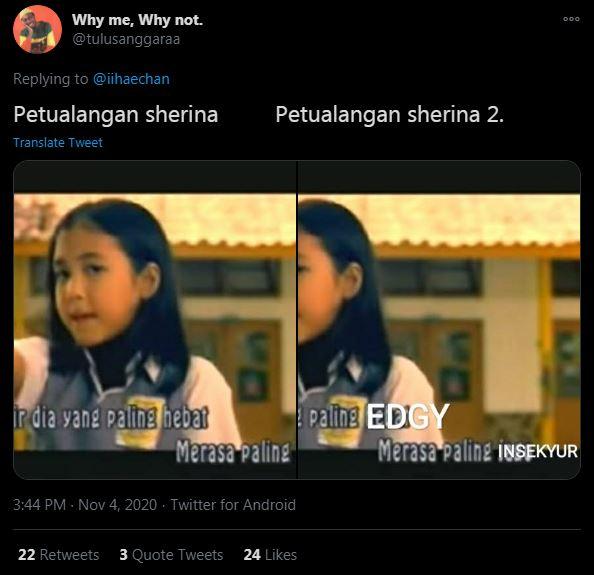 7 Meme lucu petualangan Sherina dulu & kini istimewa