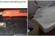 10 Potret lucu karya tukang reparasi komputer ini bikin geleng kepala