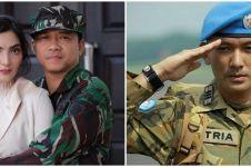 Tampil beda, ini 10 gaya seleb pria pakai seragam TNI