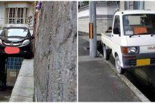 7 Potret lokasi parkir mobil ini nyeleneh, ada yang di atas kursi