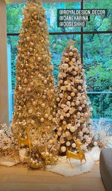 dekorasi Natal rumah Sandra Dewi © Instagram