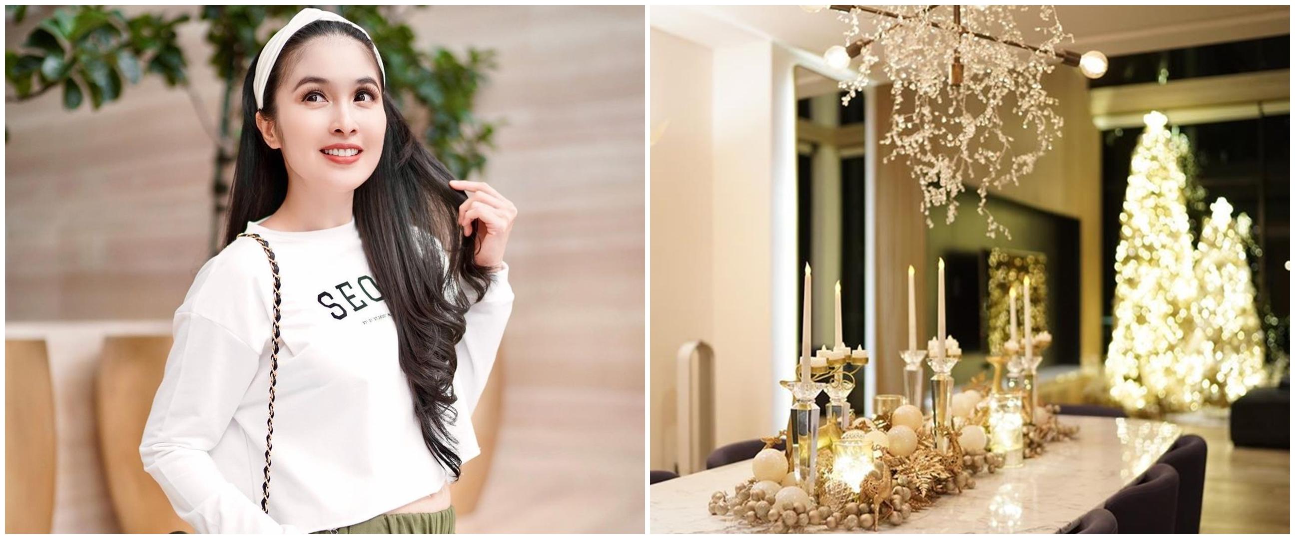 6 Potret dekorasi rumah Sandra Dewi jelang Natal, mewah dan elegan