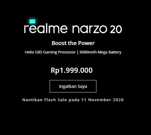 Spesifikasi Realme Narzo 20 © 2020 brilio.net