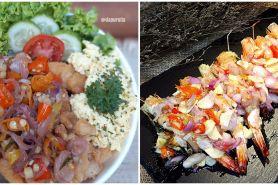 10 Resep makanan dengan sambal matah, pedas dan segarnya bikin nagih