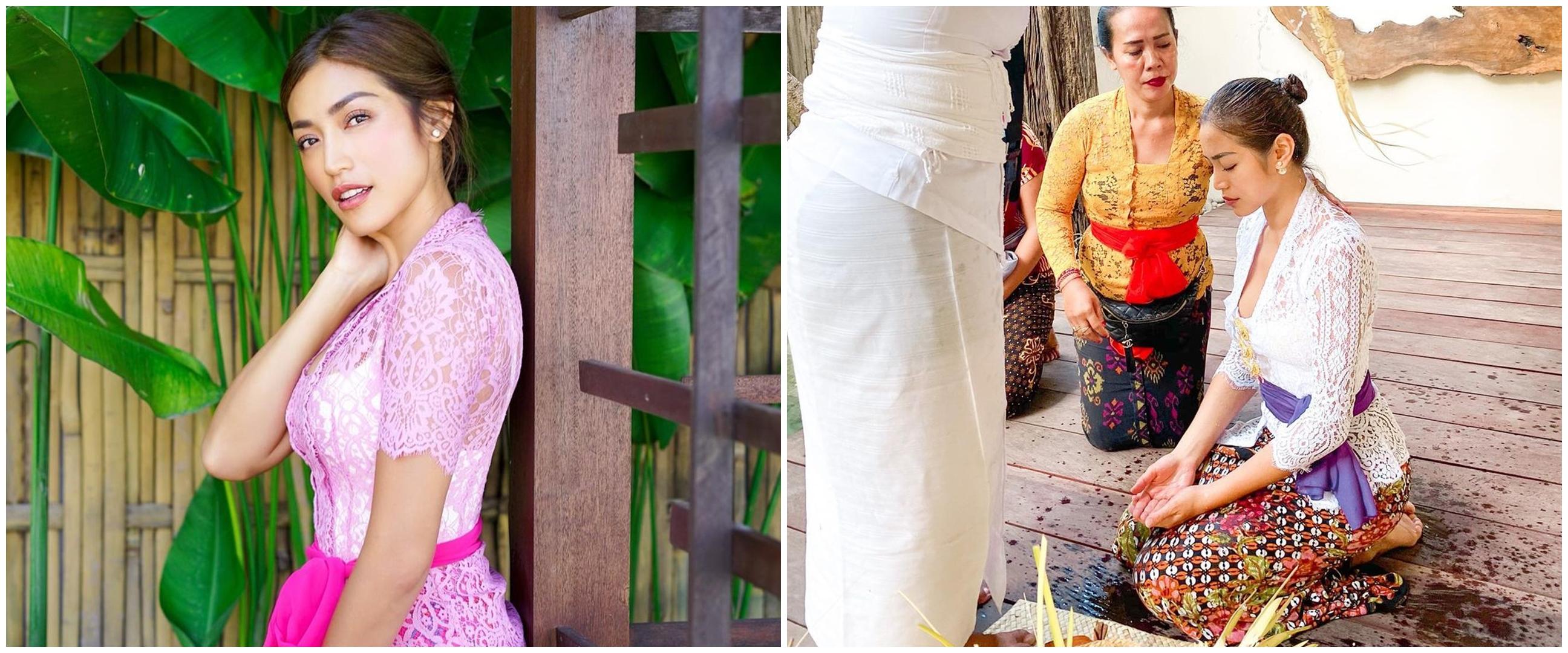 10 Momen Jessica Iskandar jalani prosesi melukat di Bali, tuai pujian