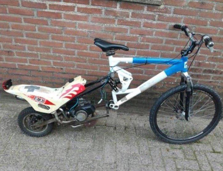 modifikasi sepeda jadi motor © Instagram