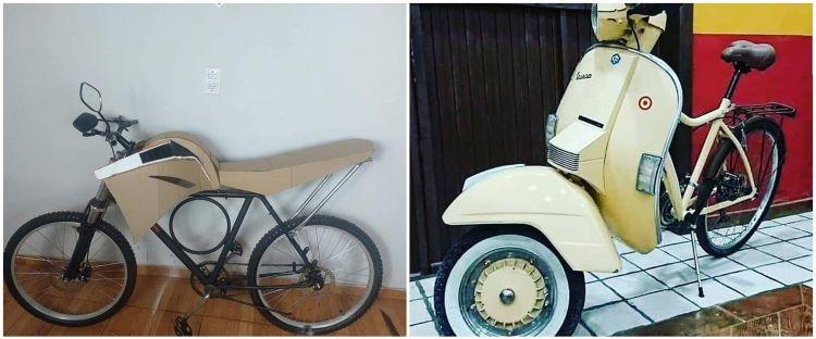10 Modifikasi sepeda jadi motor ini desainnya unik abis