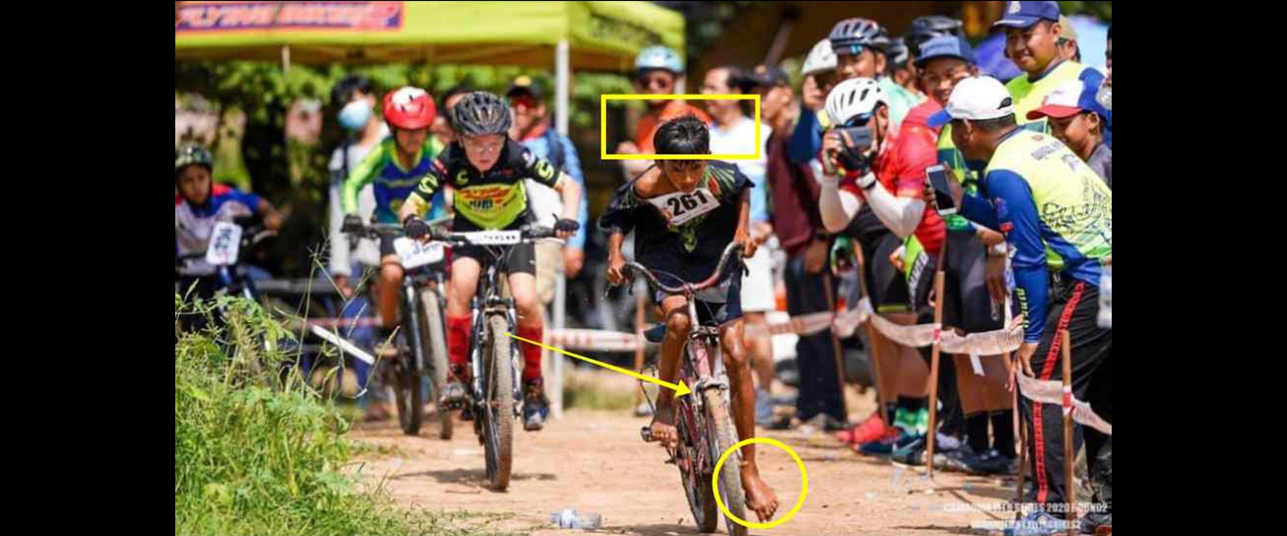 Gigih balapan pakai sepeda butut, bocah ini diganjar hadiah istimewa