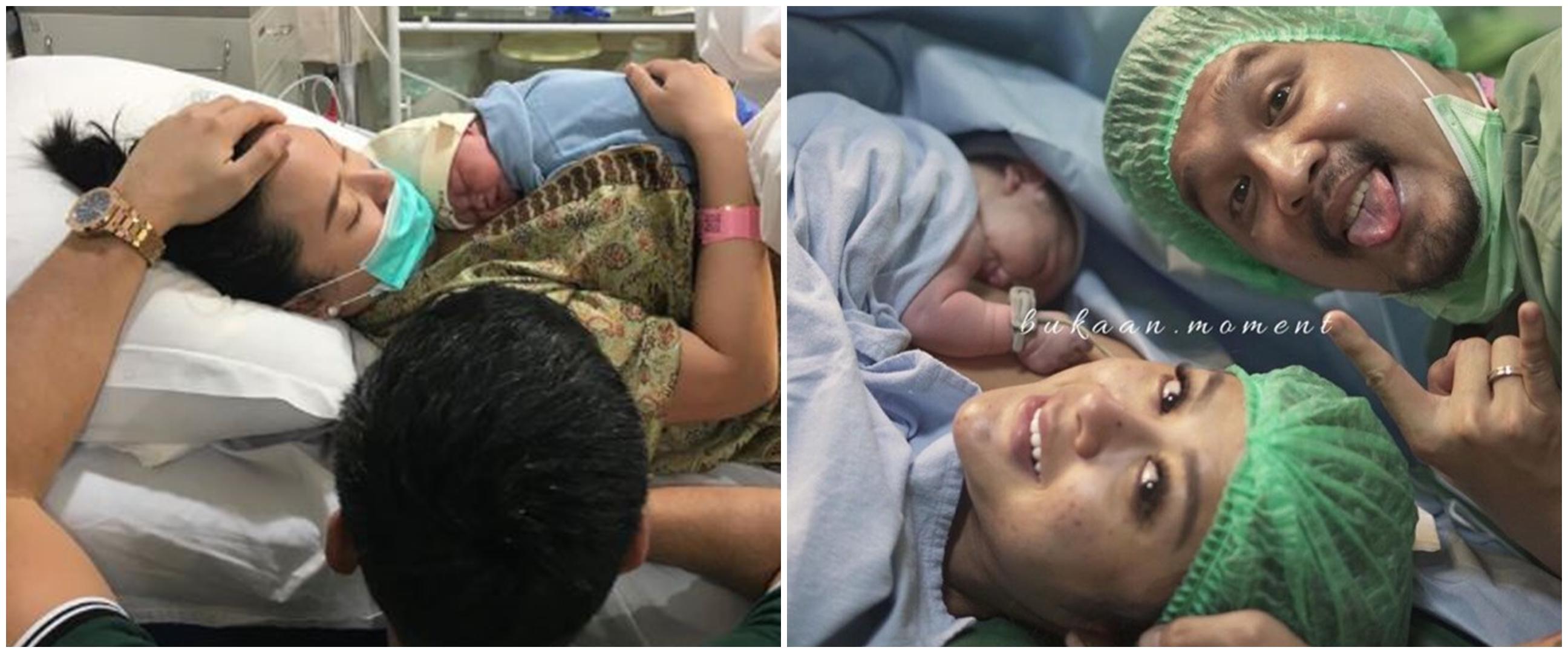 Momen bahagia 6 pedangdut melahirkan anak pertama, penuh perjuangan
