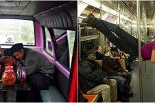 20 Potret absurd orang di kendaraan umum ini bikin mikir dua kali
