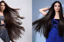 7 Gaya pemotretan seleb dengan rambut panjang, bak boneka barbie