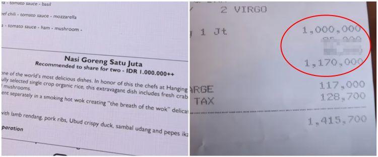 Viral nasi goreng Rp 1 juta per porsi, penampakannya bikin melongo