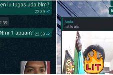 10 Chat lucu saat teman minta contekan ini bikin nyengir kesal