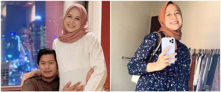 10 Potret perjalanan kehamilan anak ketiga Nina Zatulini