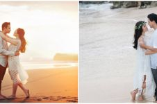 Potret 10 seleb prewedding di pantai, romantis abis