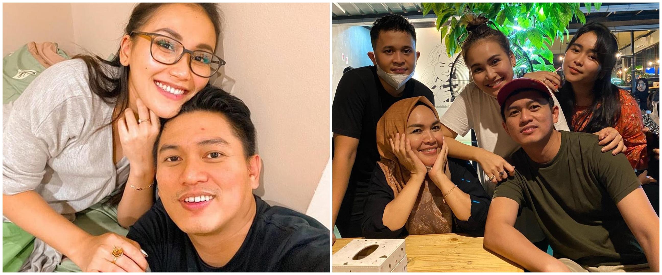 8 Momen kedekatan Adit Jayusman bareng keluarga Ayu Ting Ting