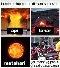 meme pengendara motor pada siang hari Berbagai sumber