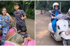 8 Potret Nagita Slavina mengendarai motor, gayanya curi perhatian