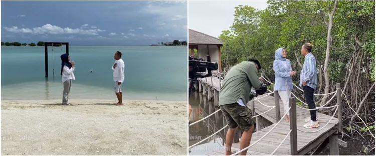 10 Momen Sule dan Nathalie Holscher syuting video klip di Pulau Seribu