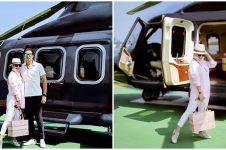 10 Momen liburan Syahrini dan Reino Barack, naik helikopter mewah