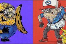 10 Potret karakter kartun diedit tampak jadi tua, absurd abis