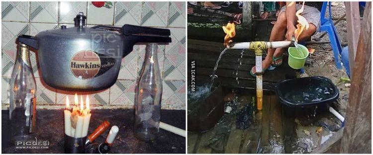 10 Tingkah kocak orang saat panaskan air ini nyeleneh abis