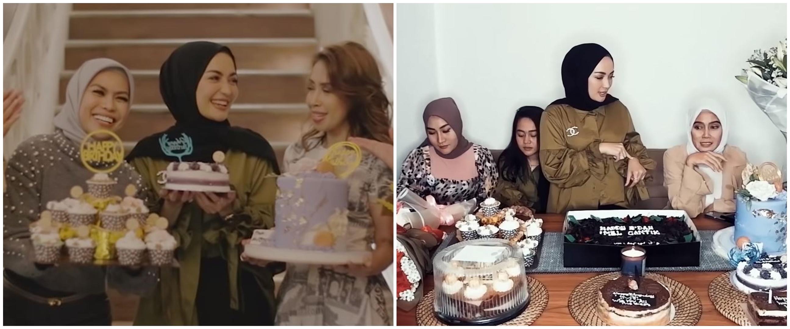 8 Momen perayaan ulang tahun Imel Putri ke-32, sederhana tapi meriah