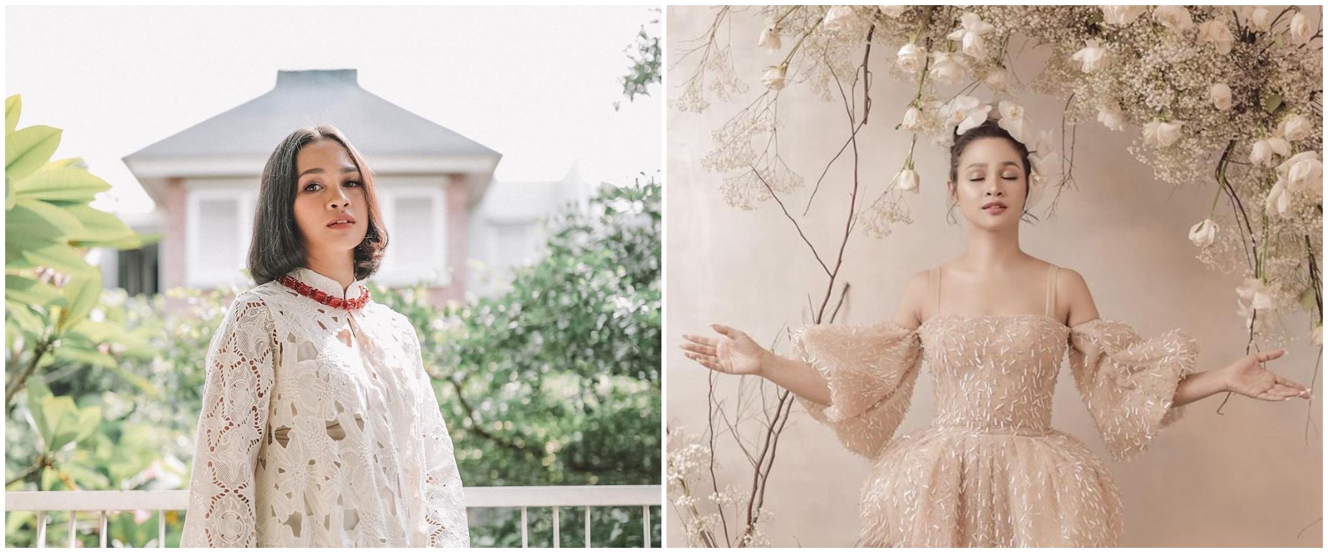 10 Gaya pemotretan Andien Aisyah bertema floral, anggun memukau