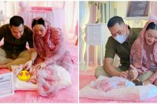 10 Momen akikah anak Zaskia Gotik, dekorasinya serba pink