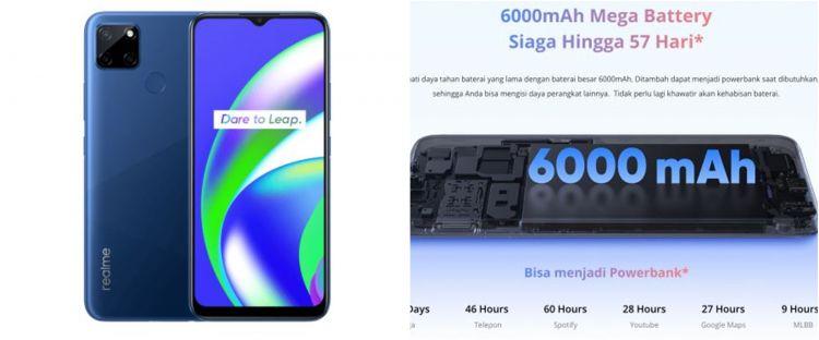 Harga Realme C12, serta spesifikasi, kelebihan dan kekurangan