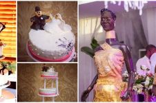 10 Potret wedding cake gagal ini bikin pengantin cemberut seharian