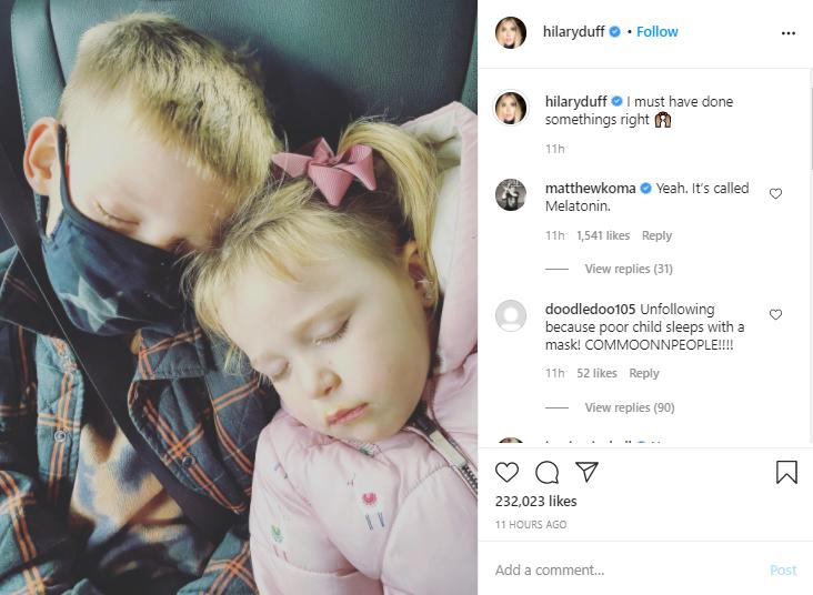 momen Hilary Duff jalani karantina karena Covid-19 Instagram