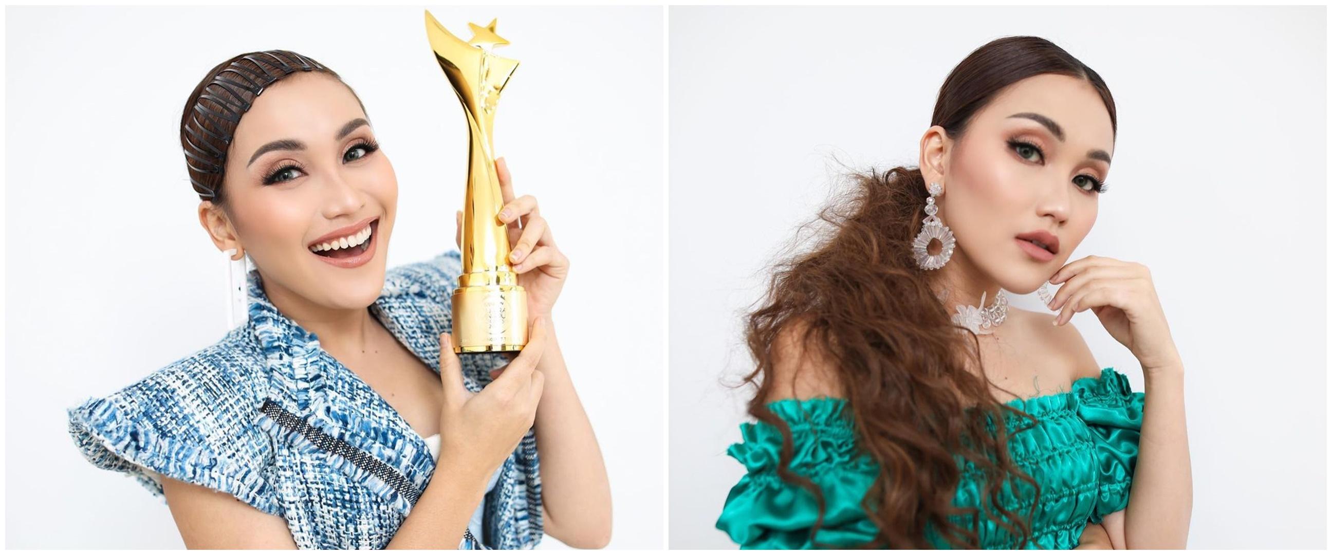 7 Pesona Ayu Ting Ting di Anugerah Dangdut Indonesia, raih 4 piala