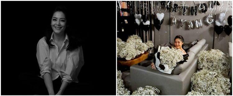 7 Momen manis Lulu Tobing rayakan ultah ke-43, rumah jadi lautan bunga