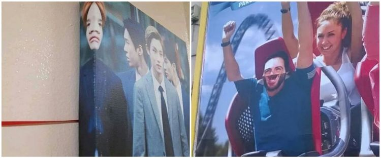 20 Penampakan poster di tempat umum ini bikin mata kudu lihat dua kali