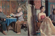 10 Pemotretan keluarga Uya Kuya dengan baju adat Jawa, klasik banget