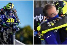 10 Momen perpisahan Valentino Rossi & Tim Pabrikan Yamaha, penuh haru